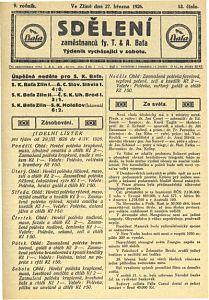 Baťovské noviny z r. 1926